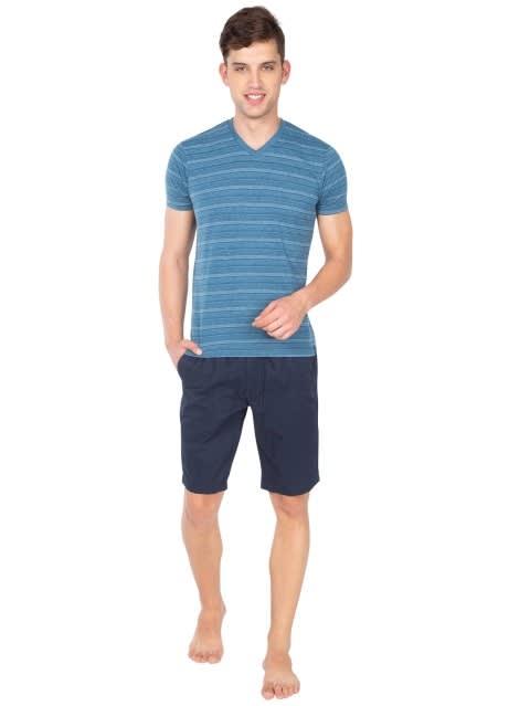 Navy Straight fit Shorts