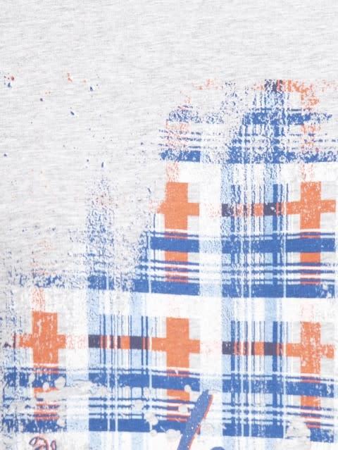 Light grey melange print044 Graphic T-Shirt
