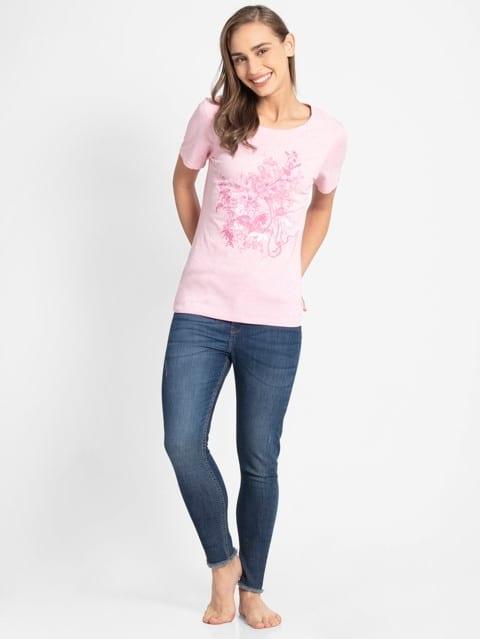 Pink lady melange print048 Graphic T-Shirt