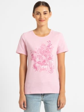 Pink lady melange print048 Graphic T-Shirt