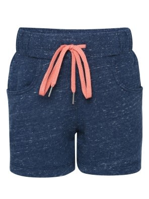 Blue Snow Melange Girls Shorts