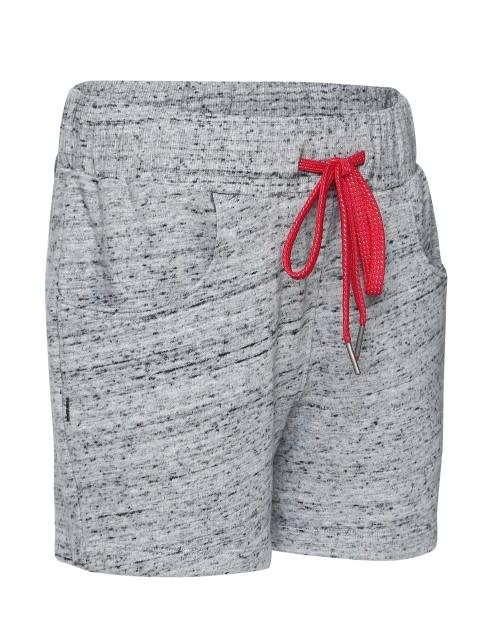 Grey Snow Melange Girls Shorts