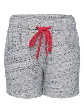 Grey Snow Melange Girls Shorts