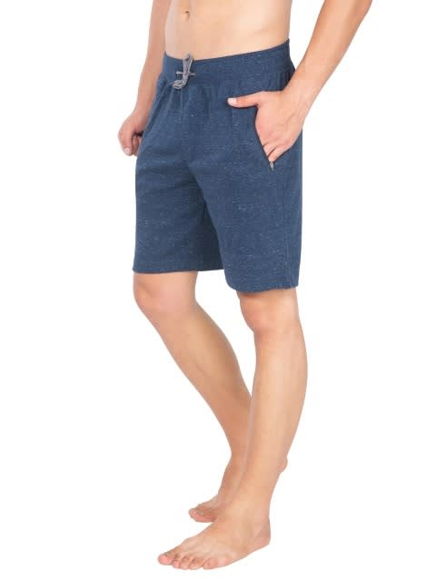 Blue Snow Melange Straight fit Shorts
