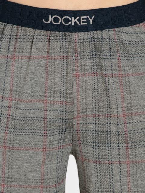Grey Melange Check09 Regular Fit Shorts