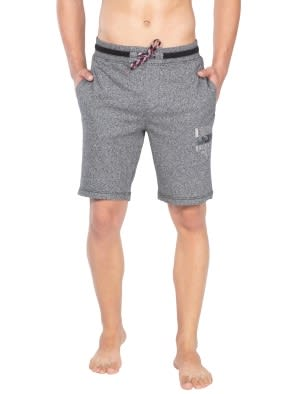 Black Grindle Straight fit Shorts