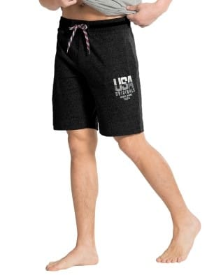True Black Melange Straight fit Shorts