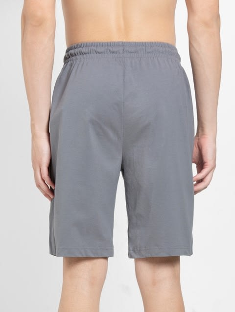 Performance Grey Straight fit Shorts