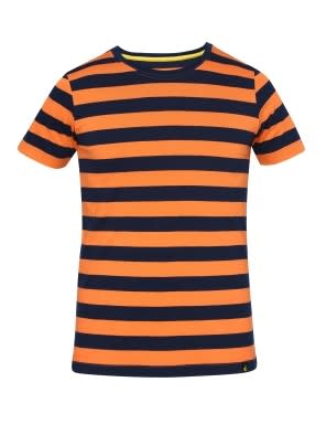 Orange & Navy Boys Striped T-Shirt