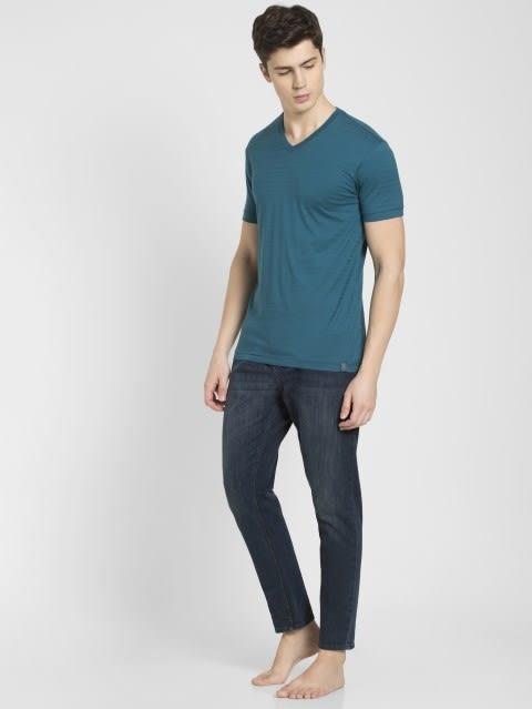 Blue Coral V-Neck T-Shirt