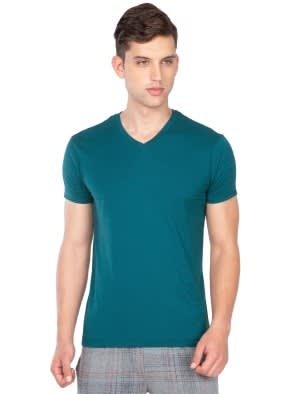 Blue Coral V-Neck T-Shirt