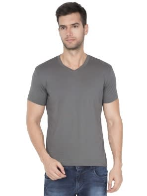 Gunmetal V-Neck T-Shirt