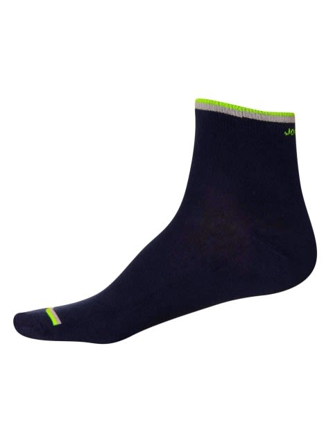 Navy FL Yellow & Teal Men Ankle Socks Pack of 2