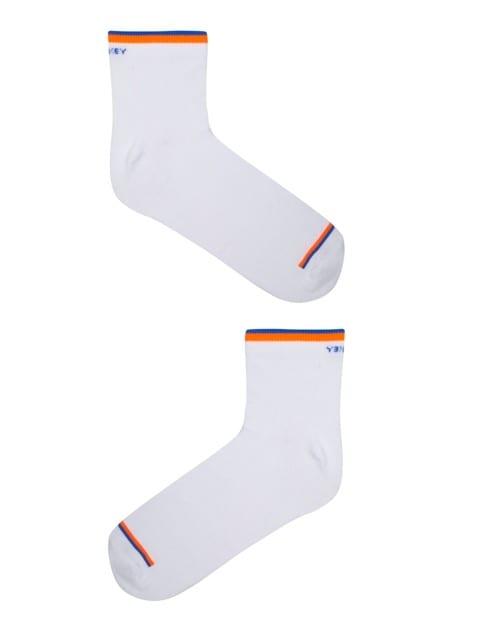 White Men Ankle Socks Pack of 2