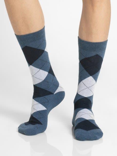 Denim Melange Men Calf Length Socks