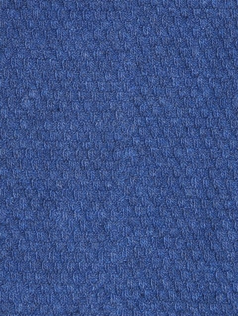 Blue Melange Des1 Men Calf Length Socks