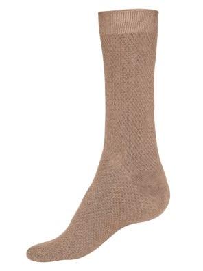 Brown Melange Des1 Calf Length Socks