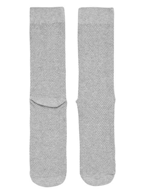 Grey Melange Des1 Calf Length Socks