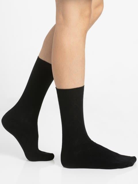 Black Des2 Men Calf Length Socks