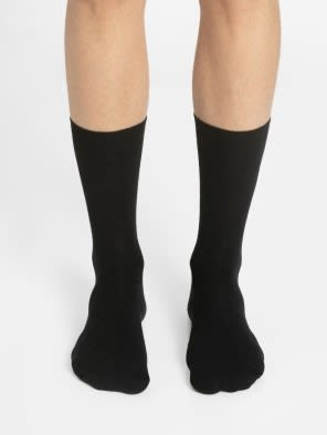 Black Des2 Calf Length Socks