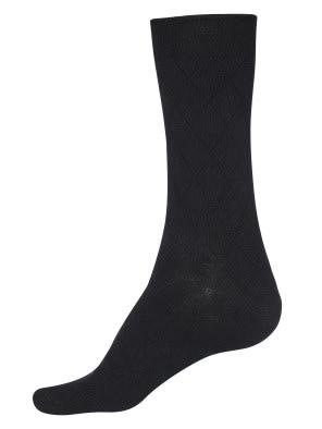 Black Des2 Calf Length Socks