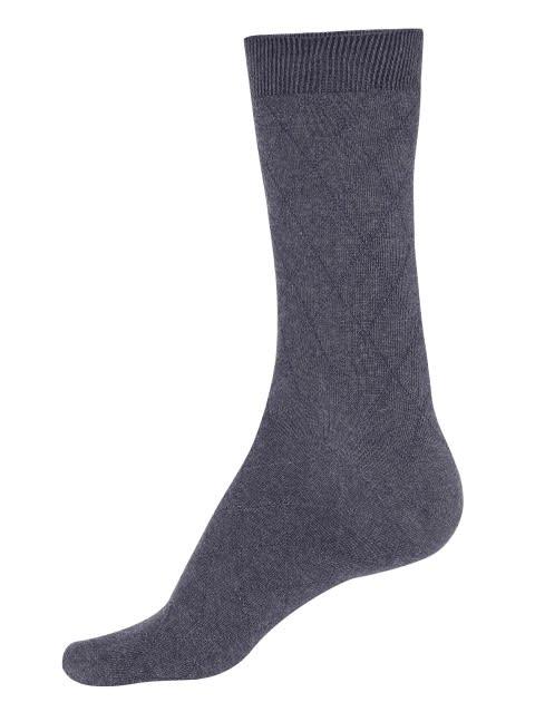 Charcoal Melange Des2 Calf Length Socks