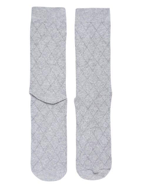Grey Melange Des2 Men Calf Length Socks
