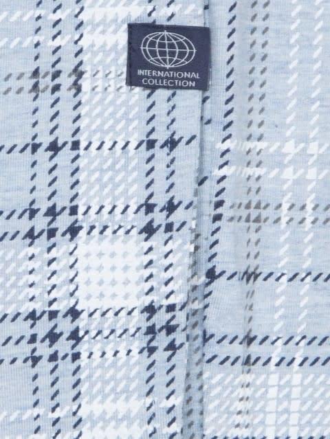Light Blue Melange Print09 Regular Fit Pyjama
