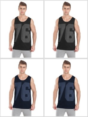 Jockey Tank Top Multi Color Combo - Pack of 4