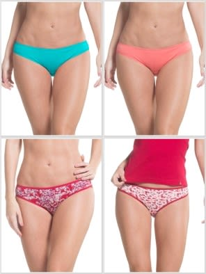 Jockey Prints & Solid Assorted Bikini Combo - Pack of 4