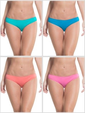 Jockey Solid Assorted Bikini Combo - Pack of 4