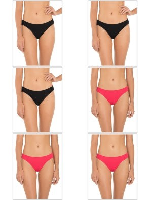 Jockey Core Color Bikini Combo - Pack of 6
