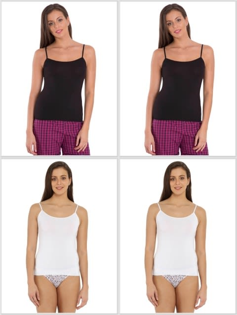 Jockey Basic Color Camisole Combo - Pack of 4