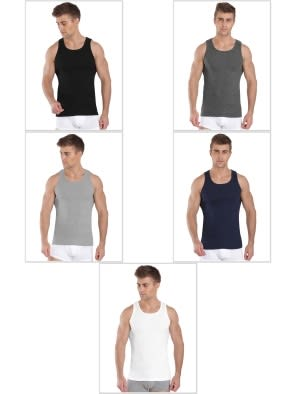 Jockey Multi Color Vest Combo - Pack of 5