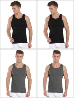 Jockey Fashion Color Vest Combo - Pack of 4