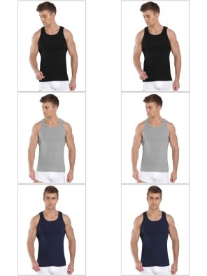 Jockey Fashion Color Vest Combo - Pack of 6