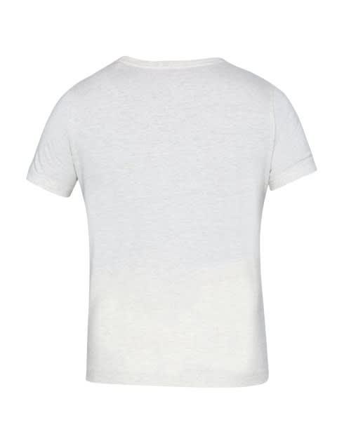 Cream Melange Girl's Graphic T-Shirt