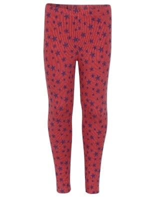 Red Melange Print 187 Leggings
