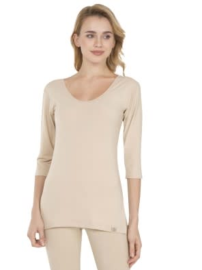 Skin Thermal 3 Q Sleeve T-Shirt