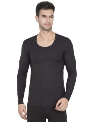 Black Thermal Long Sleeve Vest