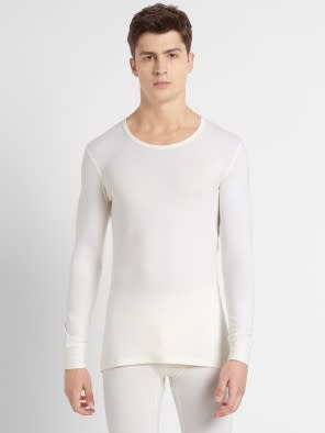 Winter White Thermal Long Sleeve Vest
