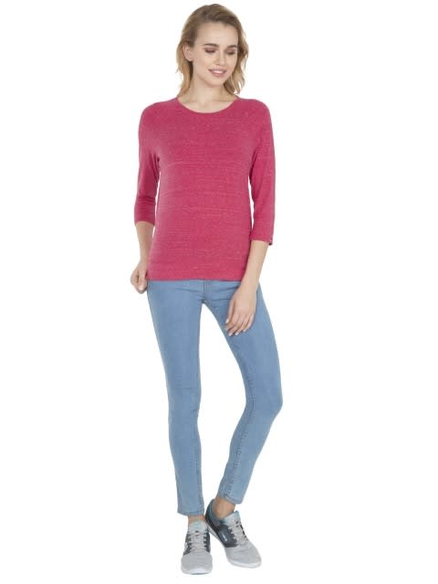 Ruby Snow Melange 3 quarter Sleeve T-Shirt