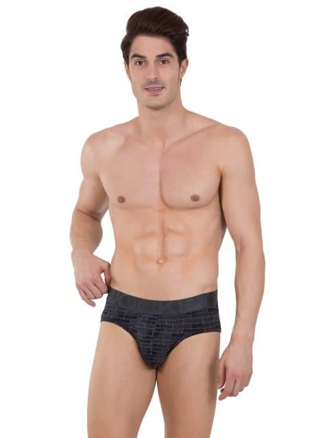 Ebony Grey Prints Brief