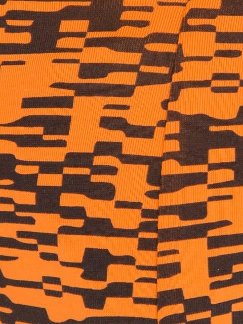 Sunset Orange Printed Brief