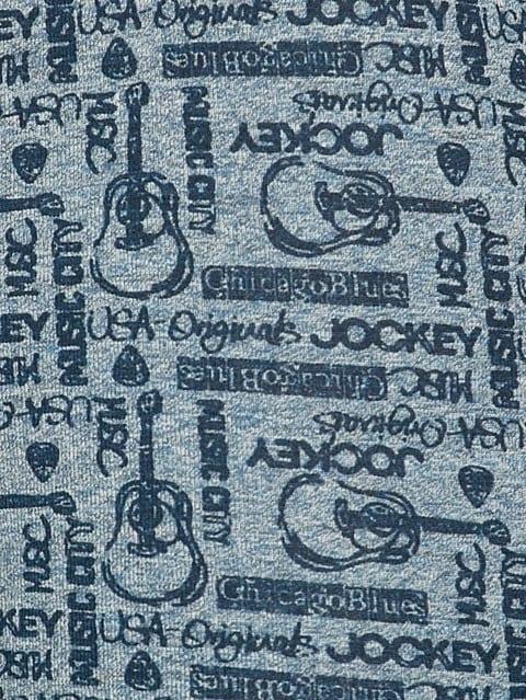 Blue Jaspe Printed Trunk