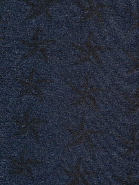 Ink Blue Melange Printed Trunk
