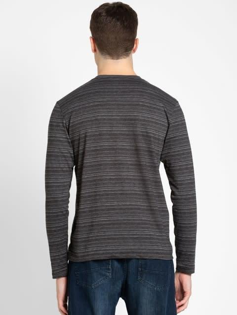 Black V-Neck Long Sleeve T-Shirt