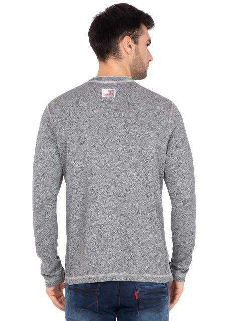 Black Grindle Long Sleeve Henley T-Shirt