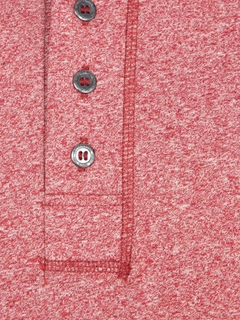 Red Grindle Long Sleeve Henley T-Shirt