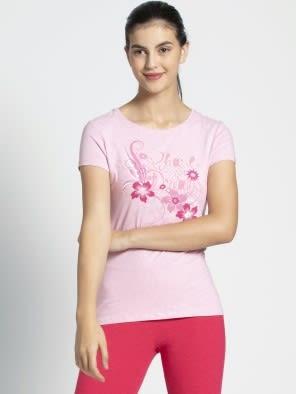 Pink Lady Melange Print57 Graphic T-Shirt